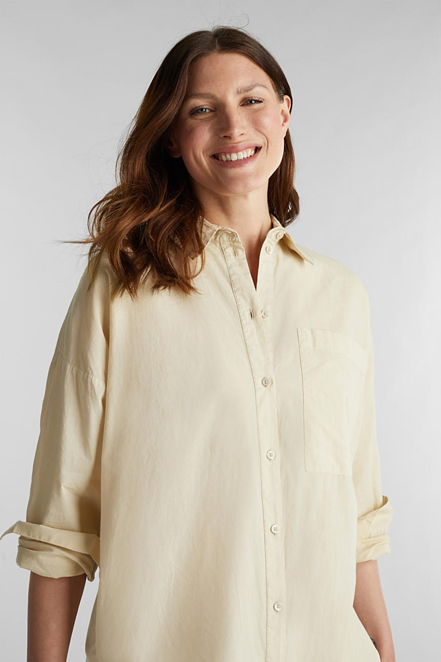 EarthColors® cotton long blouse