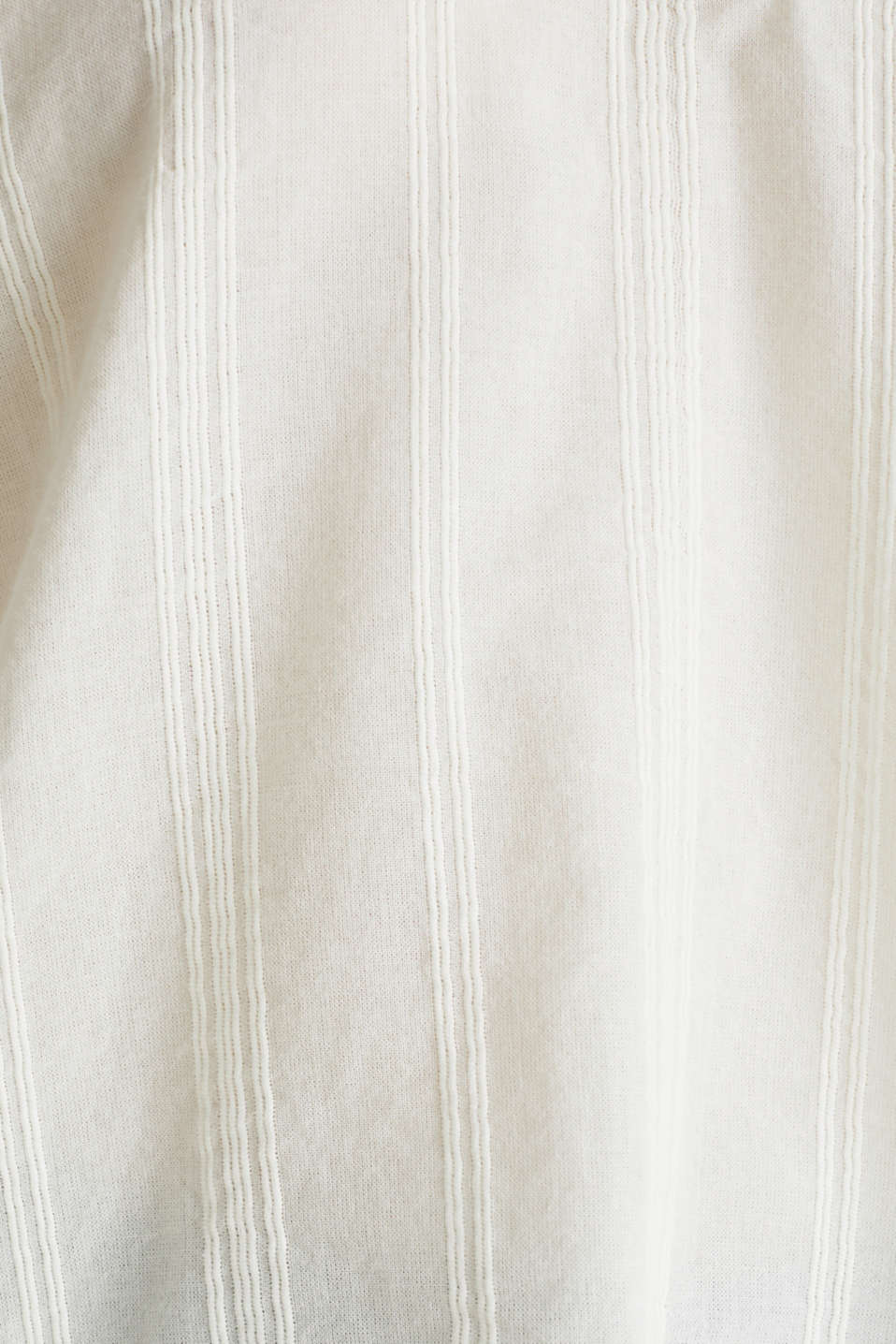 Textured blouse in 100% cotton, OFF WHITE, detail image number 3