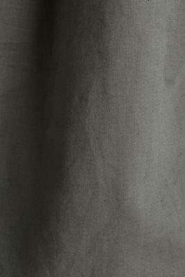 Turn-up blouse in blended linen, KHAKI GREEN, detail