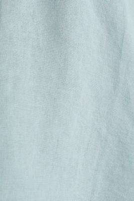 Turn-up blouse in blended linen, LIGHT AQUA GREEN, detail