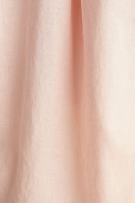 Turn-up blouse in blended linen, PEACH, detail
