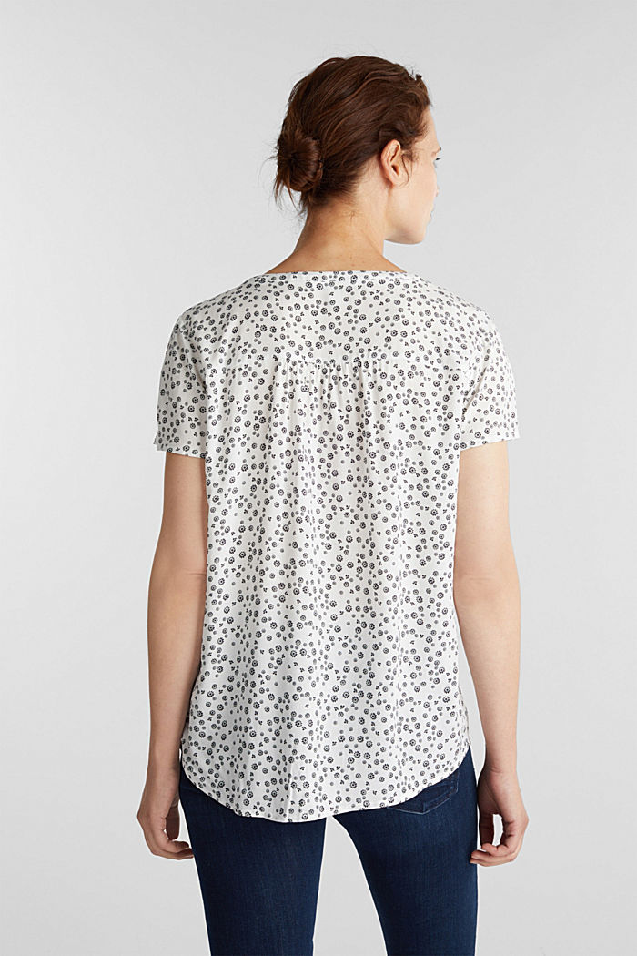 Print-Bluse aus LENZING™ ECOVERO™, OFF WHITE, detail image number 2
