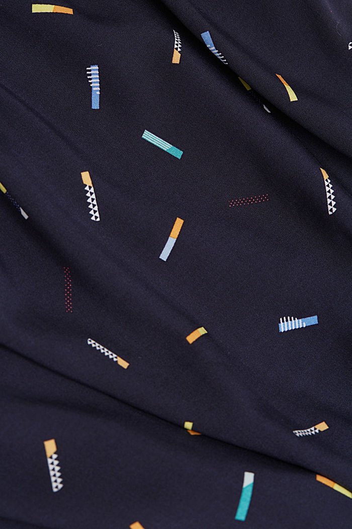 Print-Bluse aus LENZING™ ECOVERO™, NAVY, detail image number 4