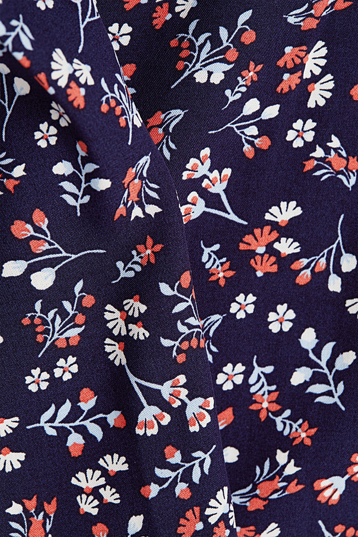 Print blouse with LENZING™ ECOVERO™, NEW NAVY, detail image number 4