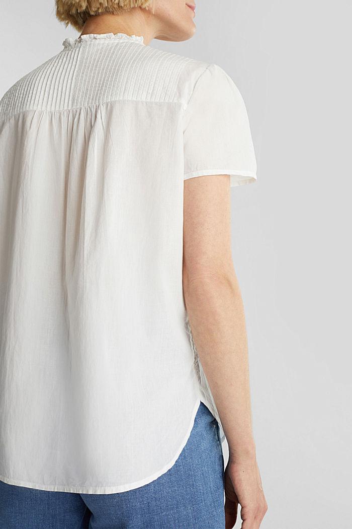 Bluse mit Biesen, 100% Baumwolle, OFF WHITE, detail image number 2