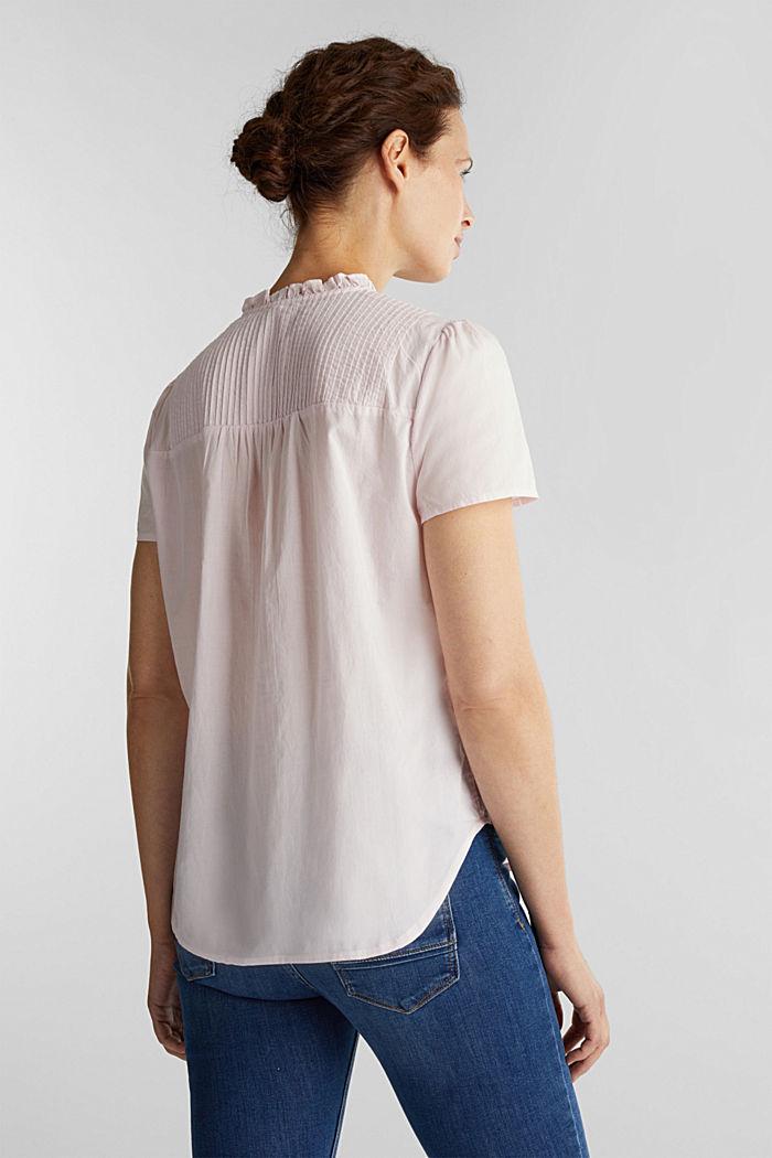 Bluse med biser, 100% bomuld, PEACH, detail image number 3