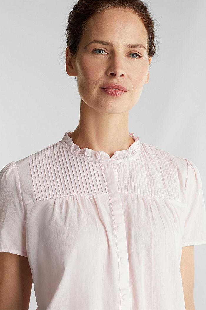Bluse med biser, 100% bomuld, PEACH, detail image number 5