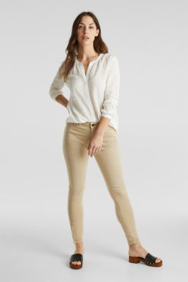 Semi-sheer seersucker blouse, OFF WHITE, detail