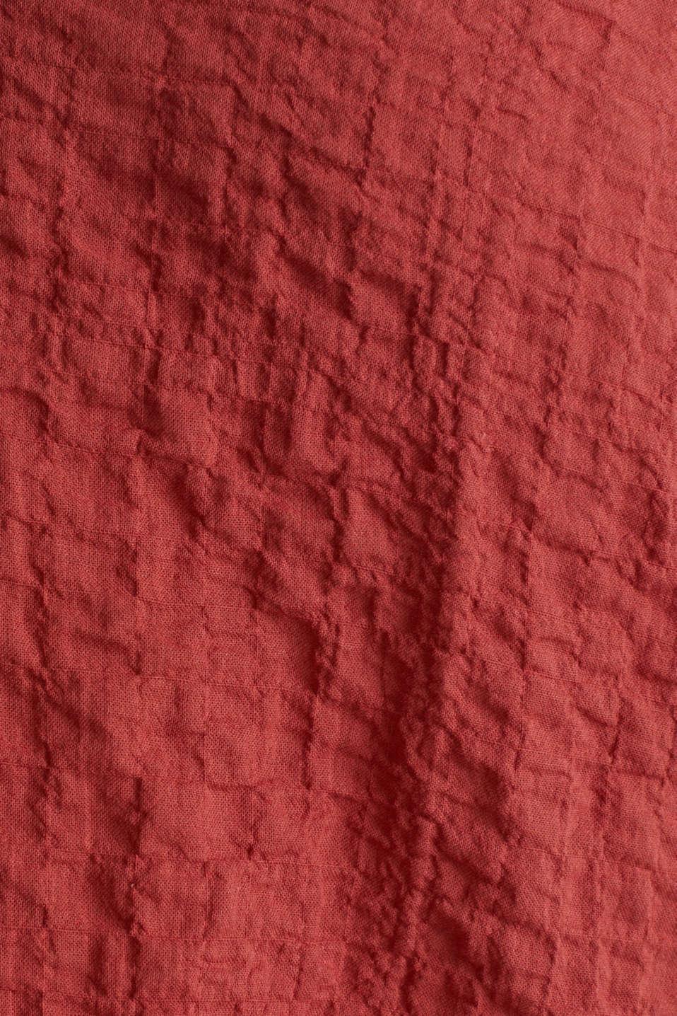 Semi-sheer seersucker blouse, DARK RED, detail image number 4