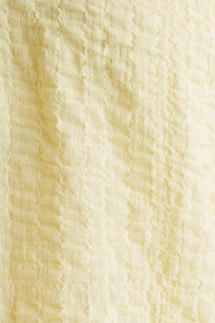 Semi-sheer seersucker blouse, LIME YELLOW, detail image number 4