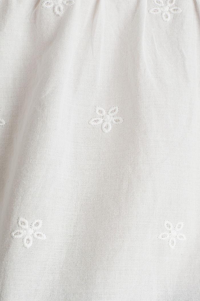 Blouse met ajourborduursel, 100% katoen, OFF WHITE, detail image number 3