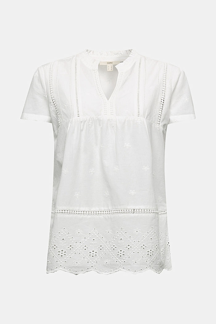Broderie anglaise blouse, 100% cotton