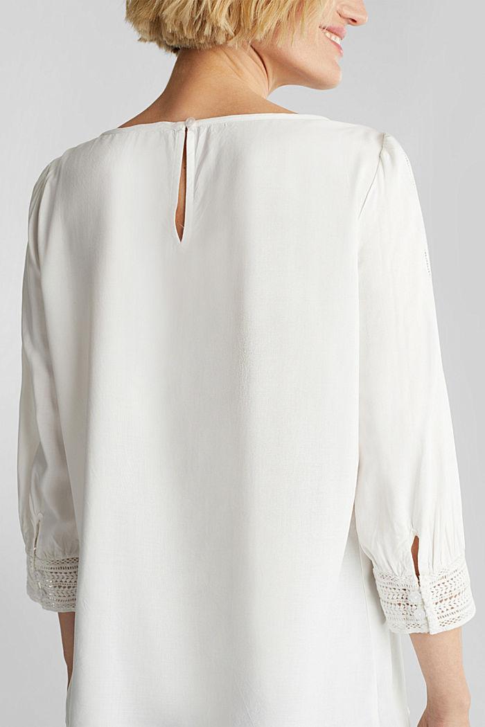 Bluse mit Lochstickerei, OFF WHITE, detail image number 2