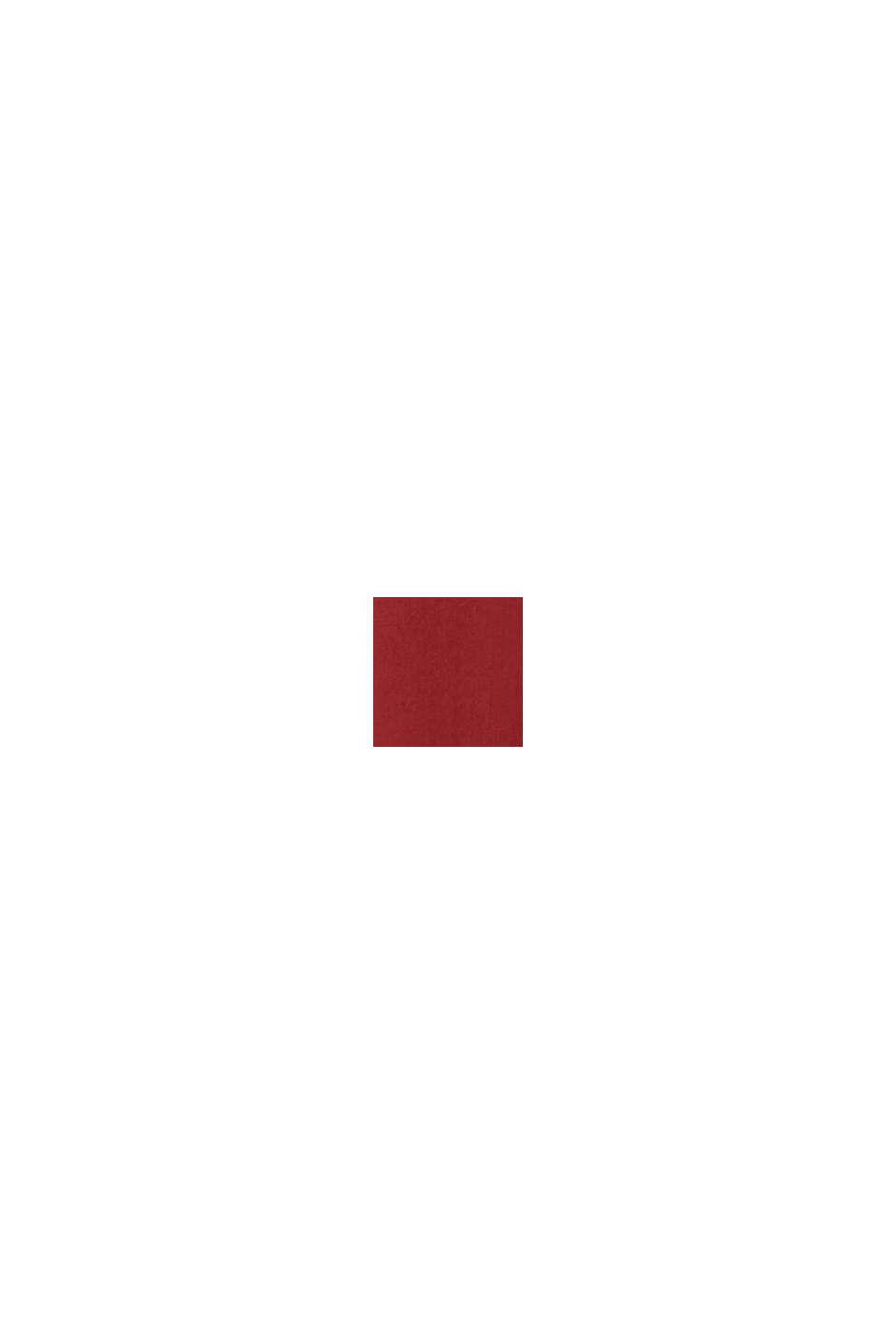 Blusa con ricamo traforato, DARK RED, swatch