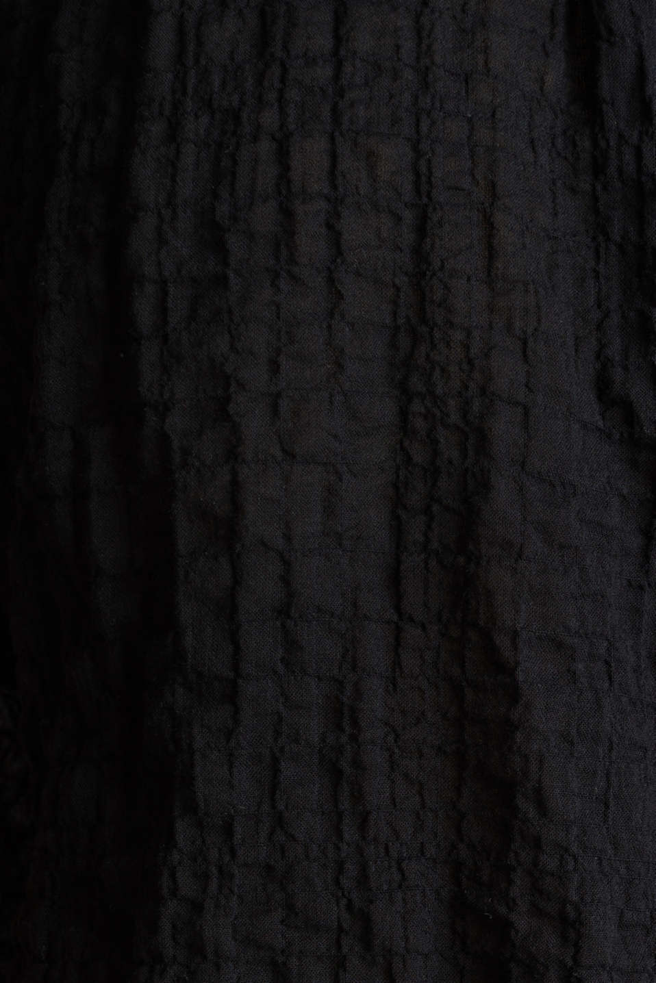 Semi-sheer seersucker blouse, BLACK, detail image number 4