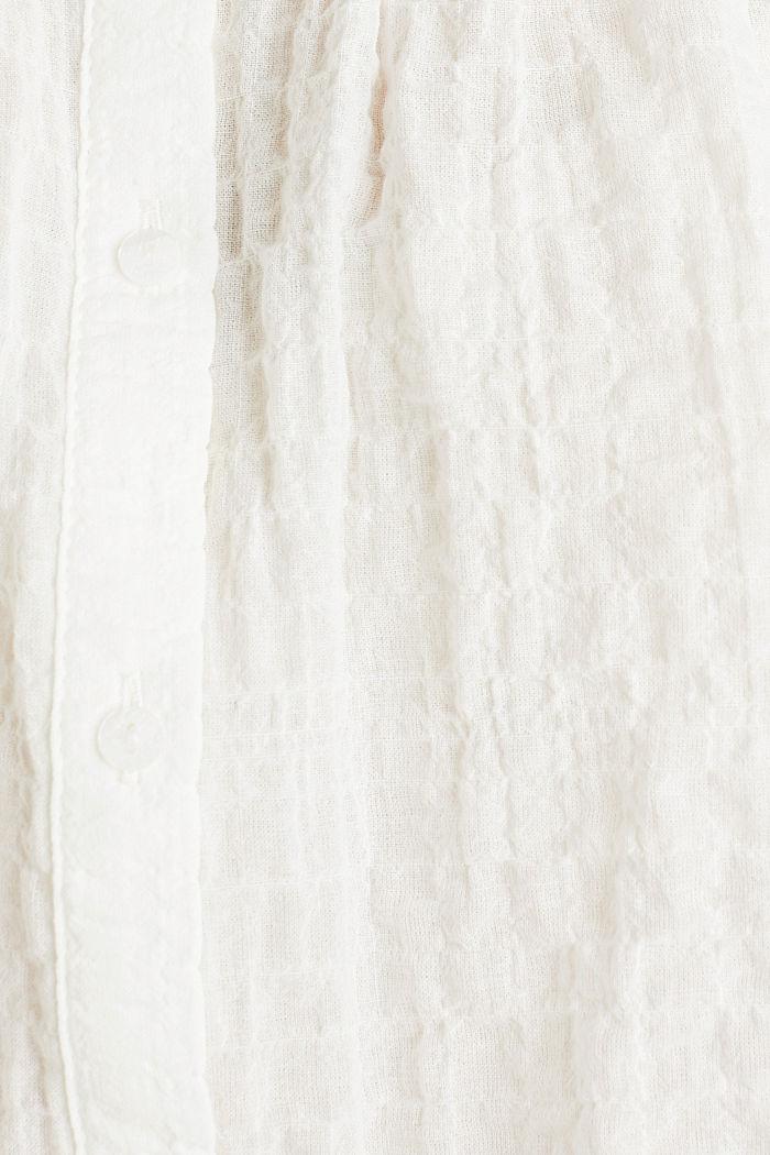 Blouse van halftransparant seersucker, OFF WHITE, detail image number 4