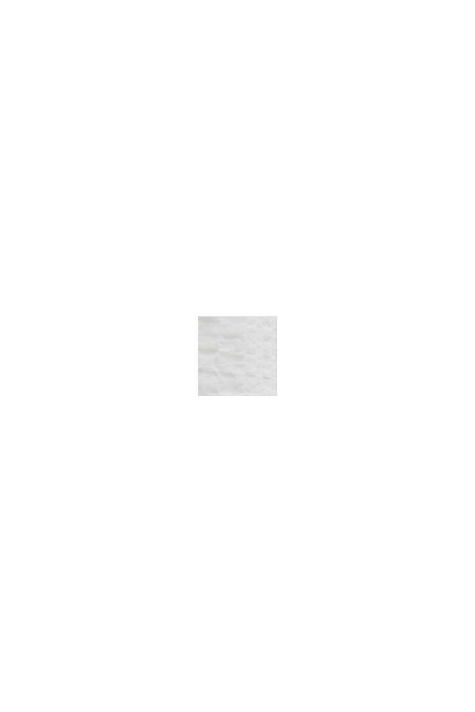 Halvtransparent bäckebölja-blus, OFF WHITE, swatch