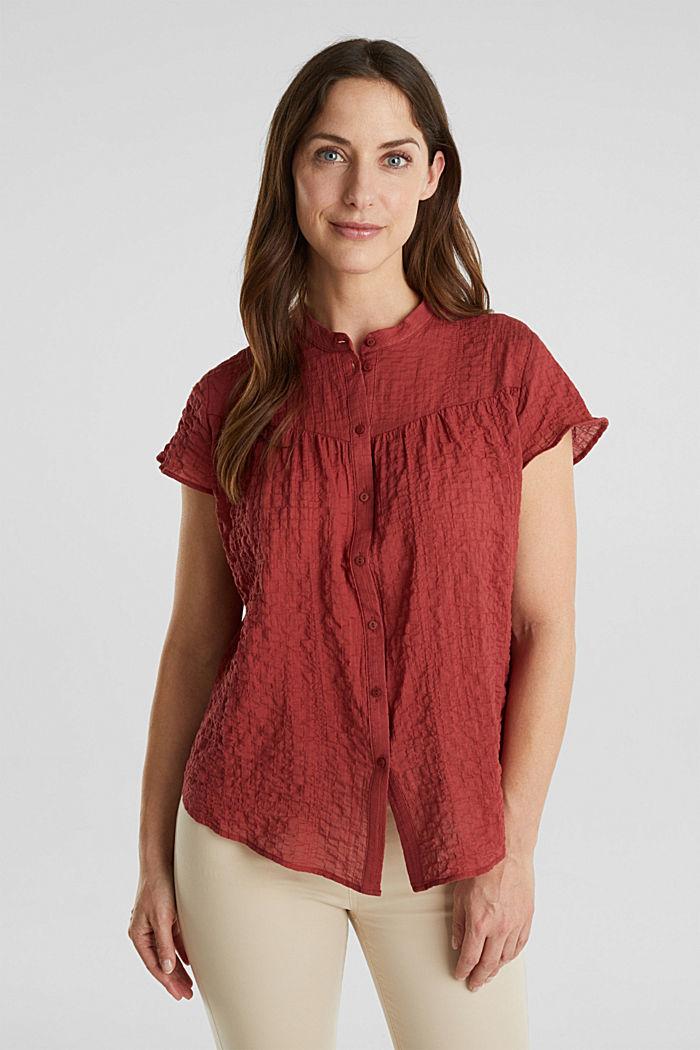 Semi-transparente Seersucker-Bluse