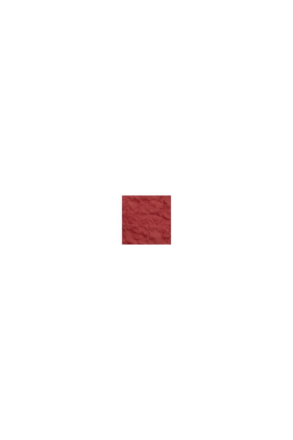 Semi-transparente Seersucker-Bluse, DARK RED, swatch