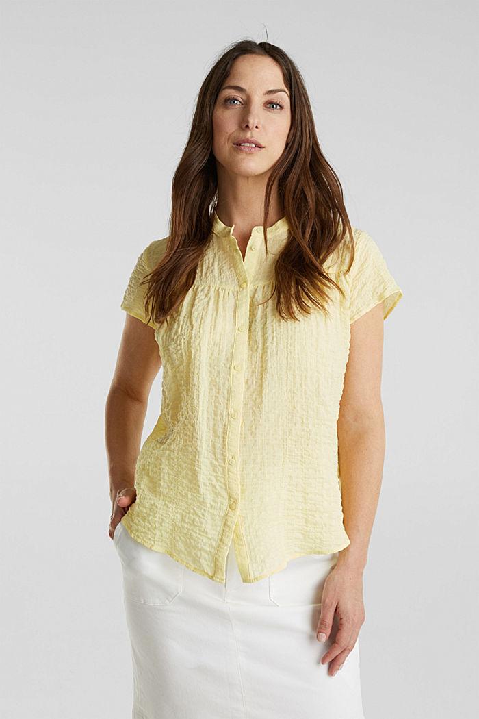 Semi-sheer seersucker blouse
