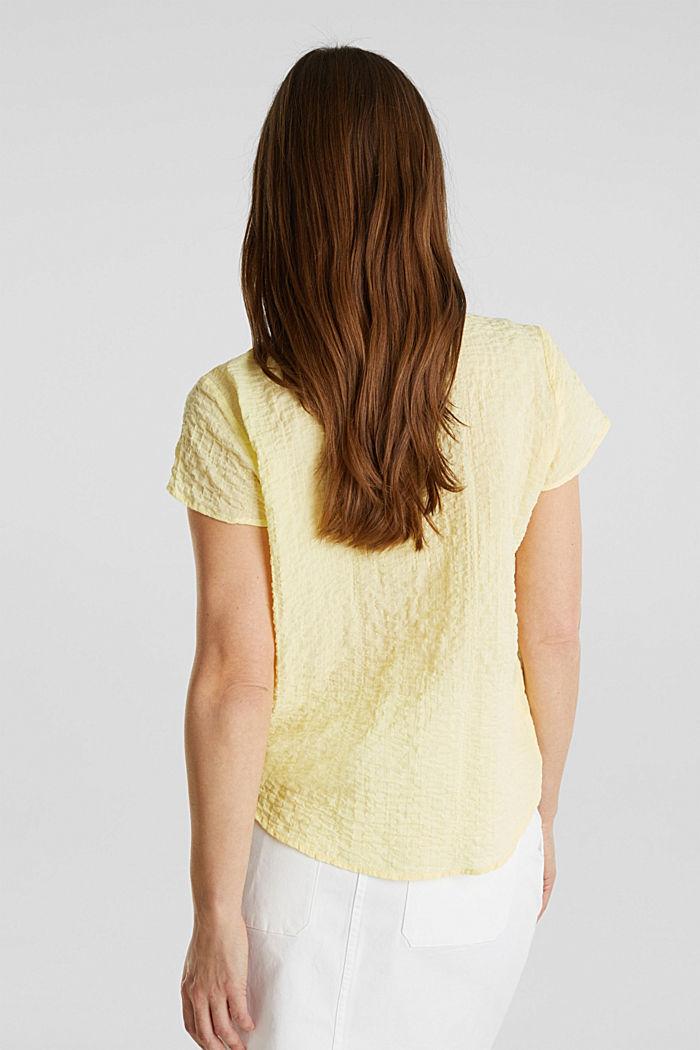 Semi-transparente Seersucker-Bluse, LIME YELLOW, detail image number 3