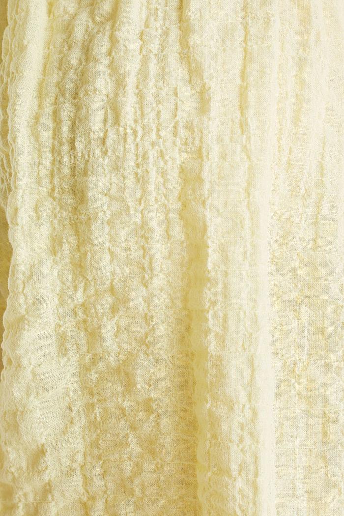 Semi-transparente Seersucker-Bluse, LIME YELLOW, detail image number 4