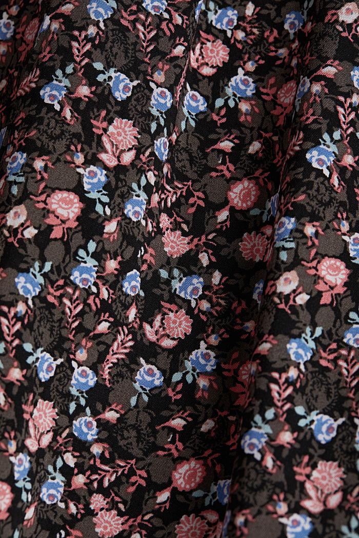 Blusen-Top mit Blumen-Print, BLACK, detail image number 4