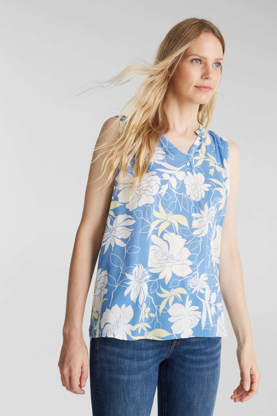 Esprit - Top med blomsterprint