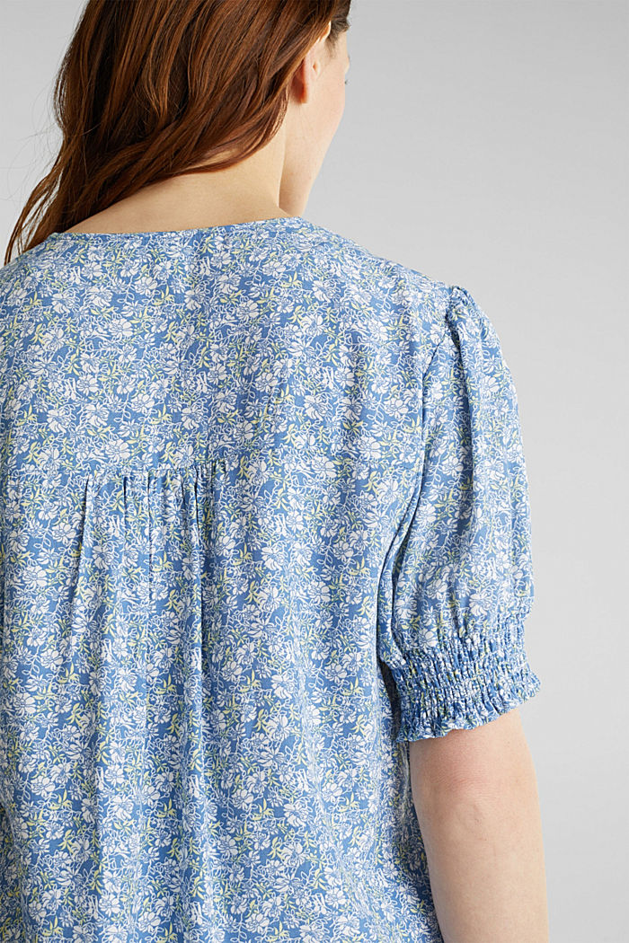 Blouse top made of LENZING™ ECOVERO™, BRIGHT BLUE, detail image number 6