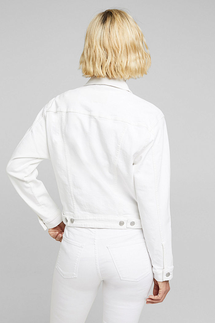 Jeans-Jacke, Bio-Baumwolle mit Stretch, WHITE, detail image number 3