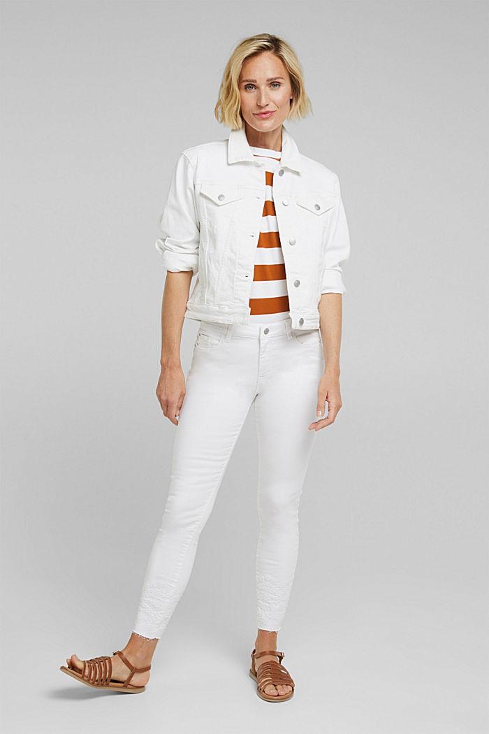 Jeans-Jacke, Bio-Baumwolle mit Stretch, WHITE, detail image number 1