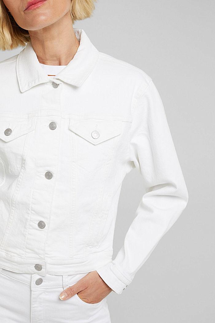 Jeans-Jacke, Bio-Baumwolle mit Stretch, WHITE, detail image number 2