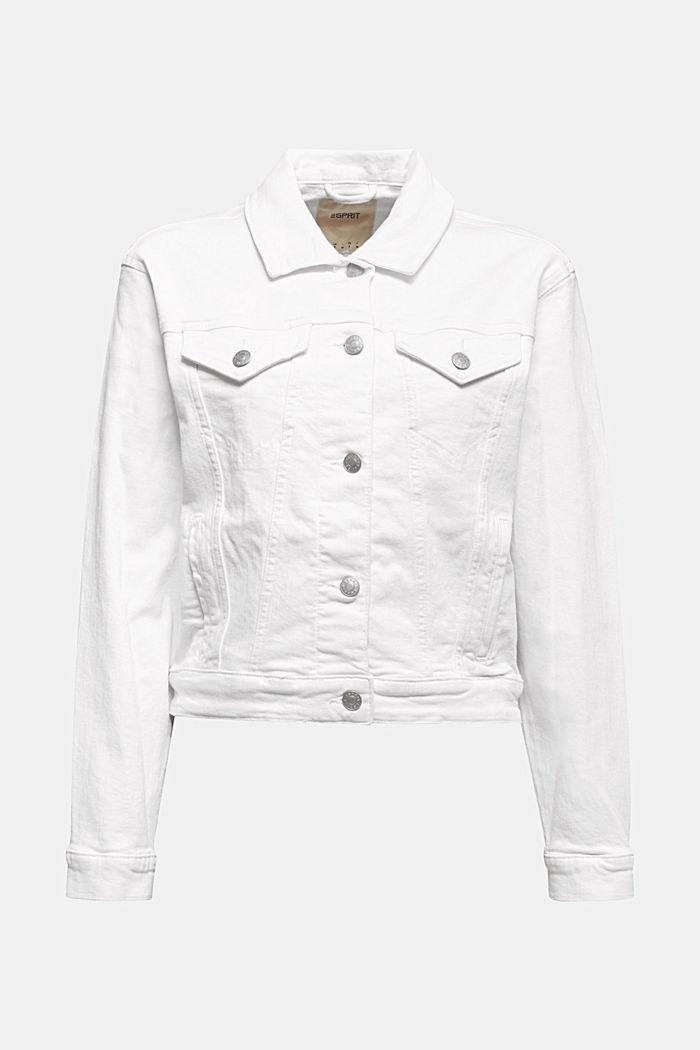 Jeans-Jacke, Bio-Baumwolle mit Stretch, WHITE, detail image number 5