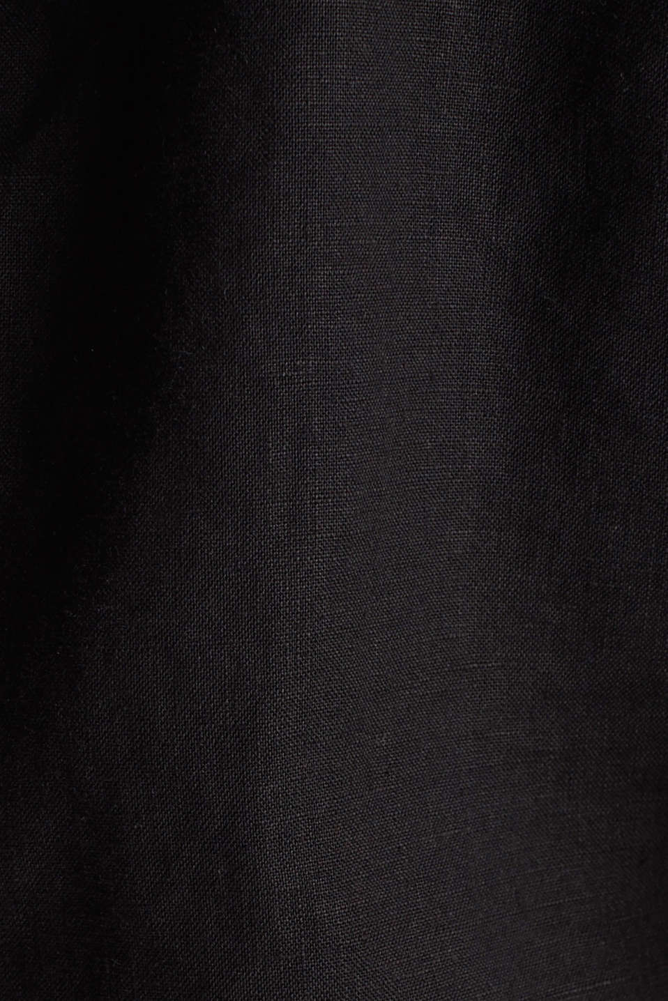 Made of linen: short blazer with pockets, BLACK, detail image number 4