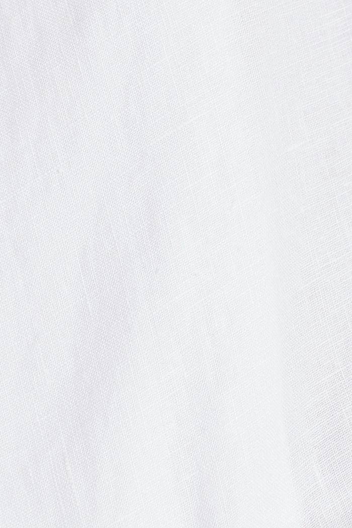 Aus Leinen: Kurz-Blazer mit Taschen, WHITE, detail image number 4