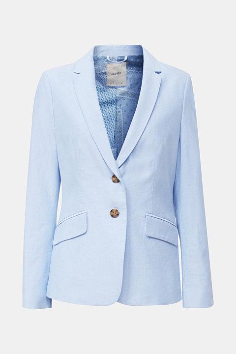 Cotton chambray blazer