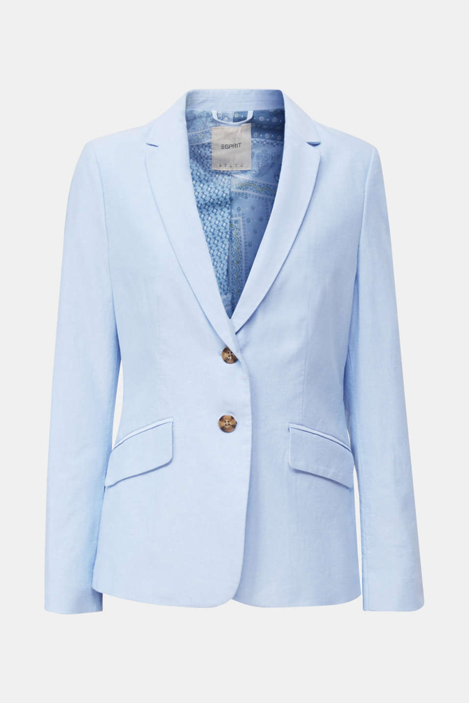 Cotton chambray blazer, LIGHT BLUE, detail image number 5