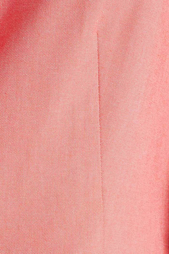 Cotton chambray blazer, CORAL, detail image number 4