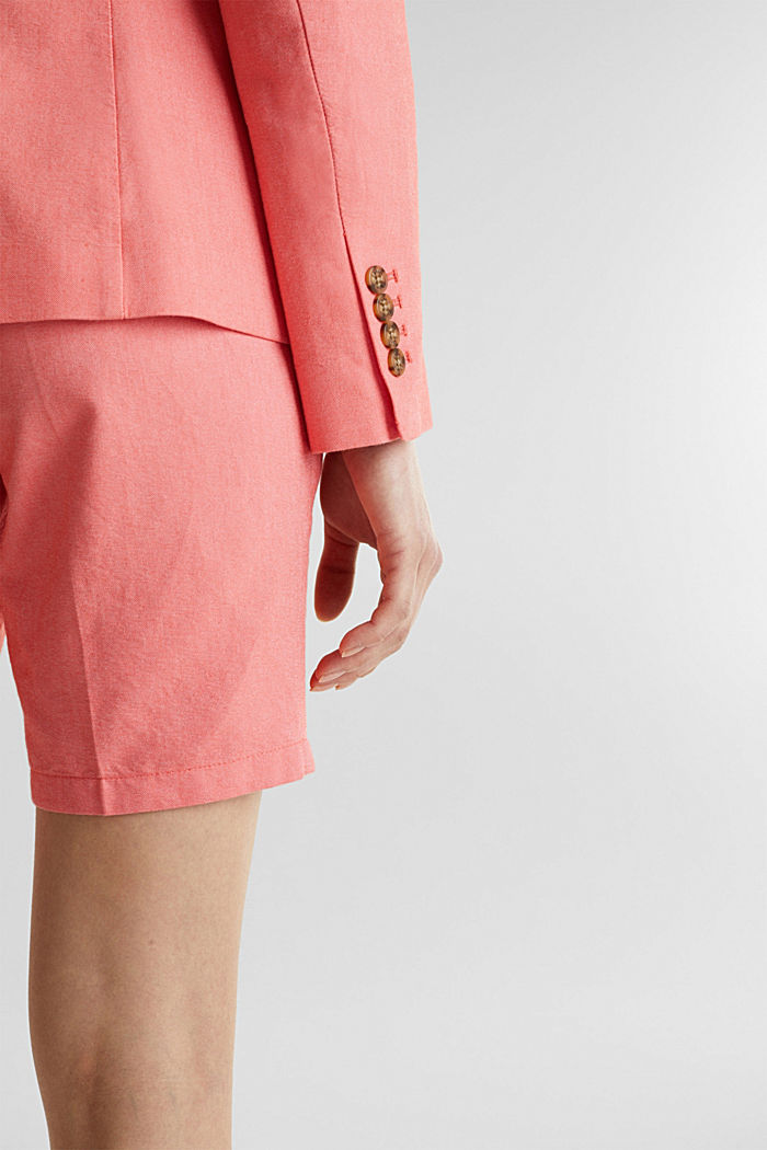 Cotton chambray blazer, CORAL, detail image number 5