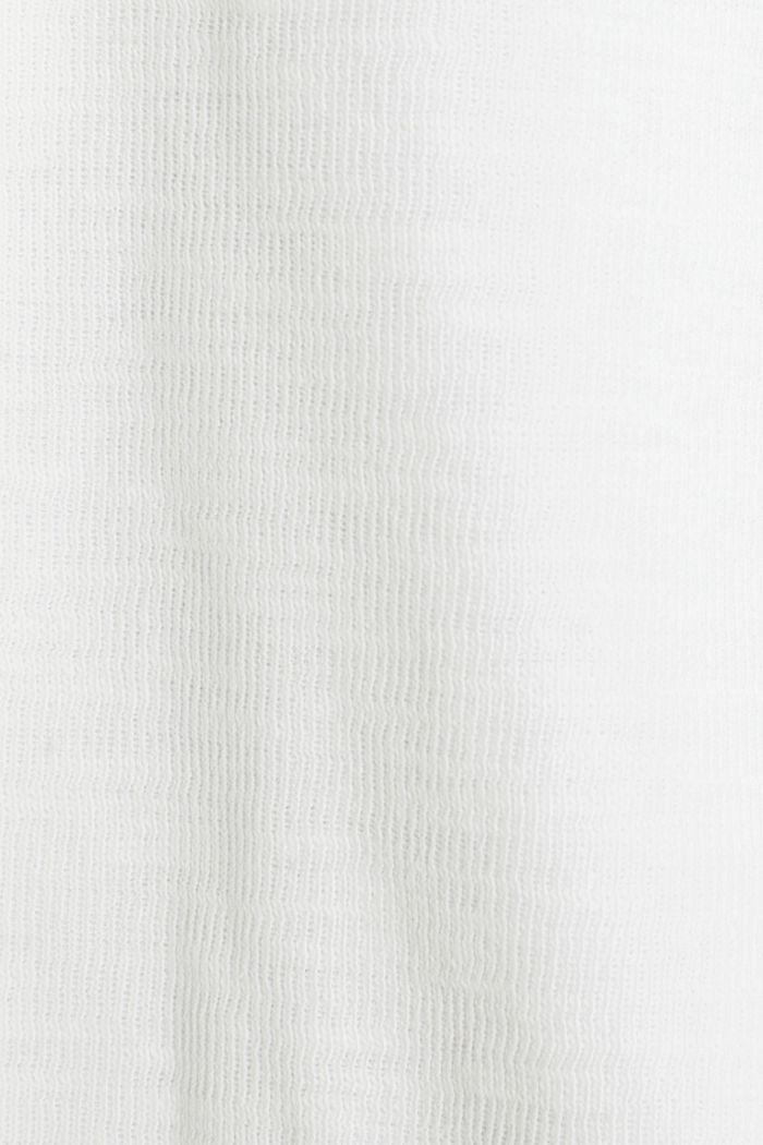 Kurz-Blazer aus Slub-Jersey, WHITE, detail image number 4