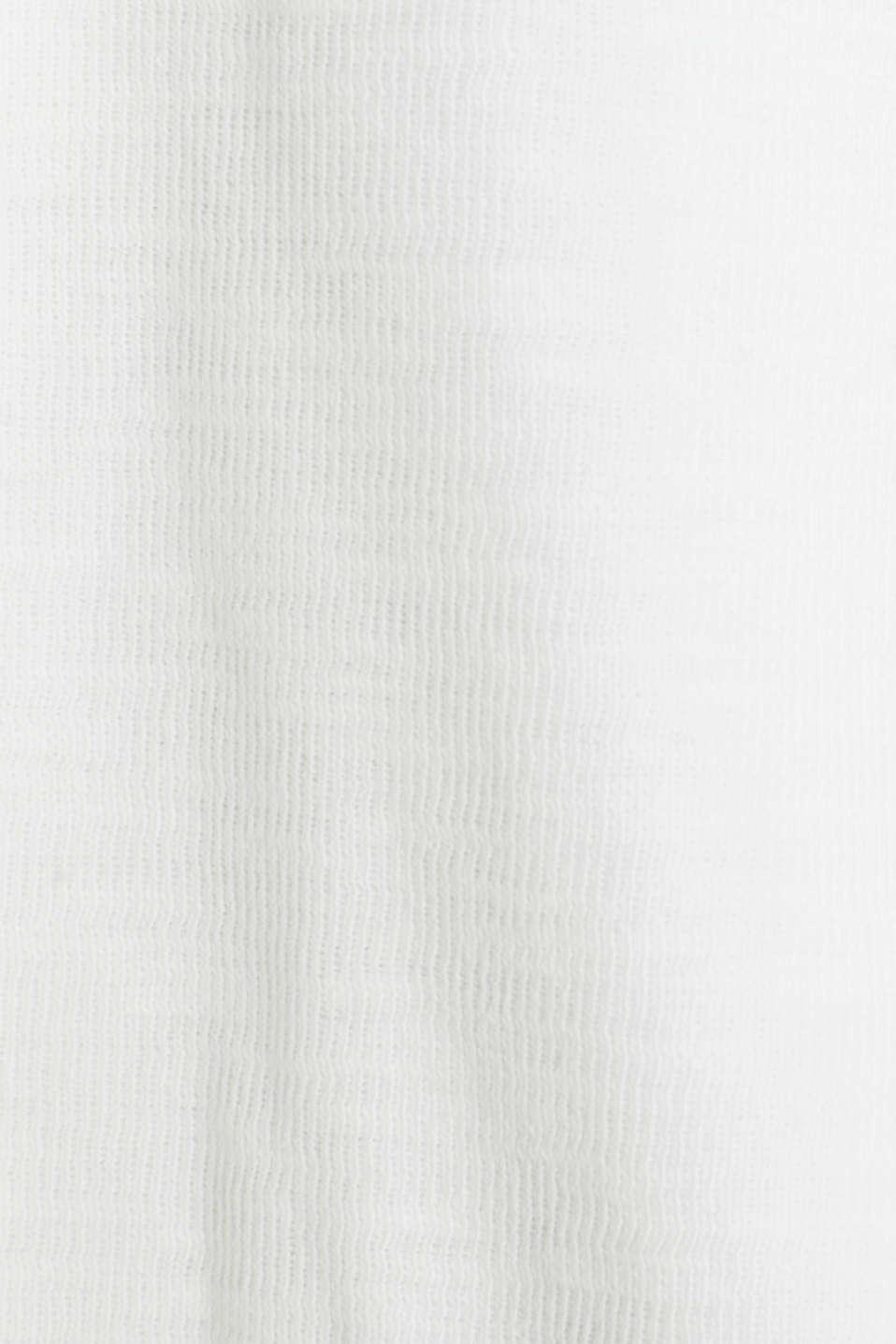 Open short blazer made of melange knit fabric, WHITE, detail image number 4