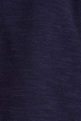Short slub jersey blazer, NAVY, detail