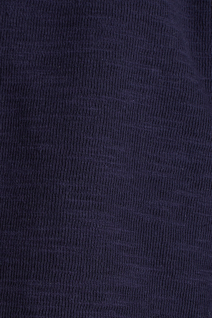 Kurz-Blazer aus Slub-Jersey, NAVY, detail image number 4