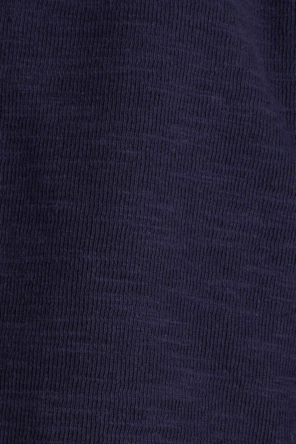 Short slub jersey blazer, NAVY, detail image number 4