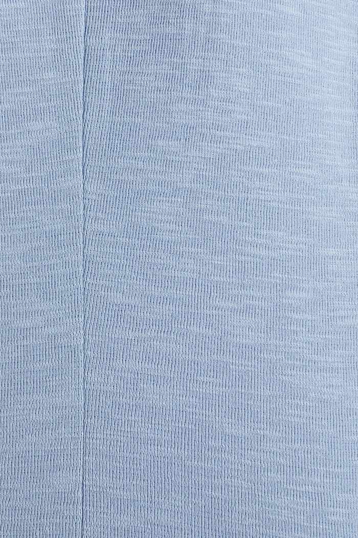 Kurz-Blazer aus Slub-Jersey, LIGHT BLUE, detail image number 4