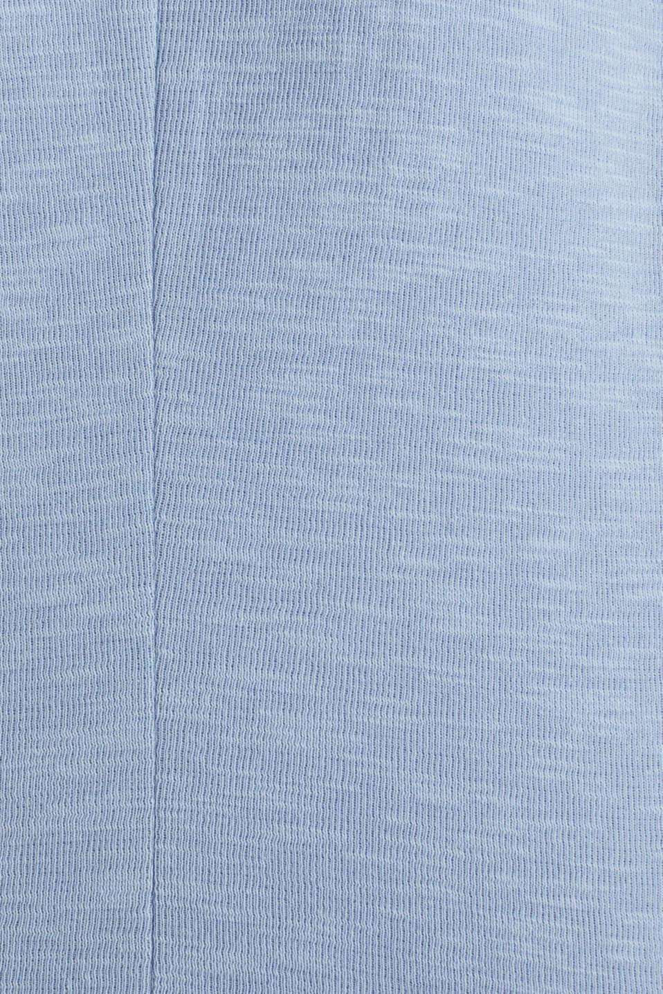 Short slub jersey blazer, LIGHT BLUE, detail image number 4