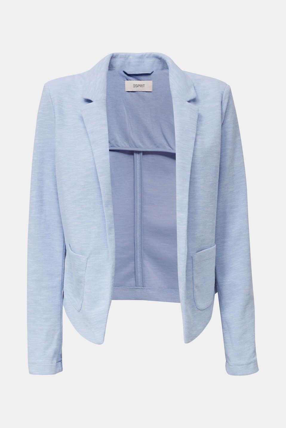 Short slub jersey blazer, LIGHT BLUE, detail image number 5