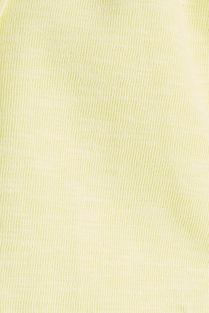 Kurz-Blazer aus Slub-Jersey, LIME YELLOW, detail image number 4