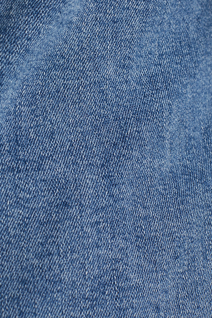 CURVY denim jacket in a basic style, BLUE MEDIUM WASHED, detail image number 4