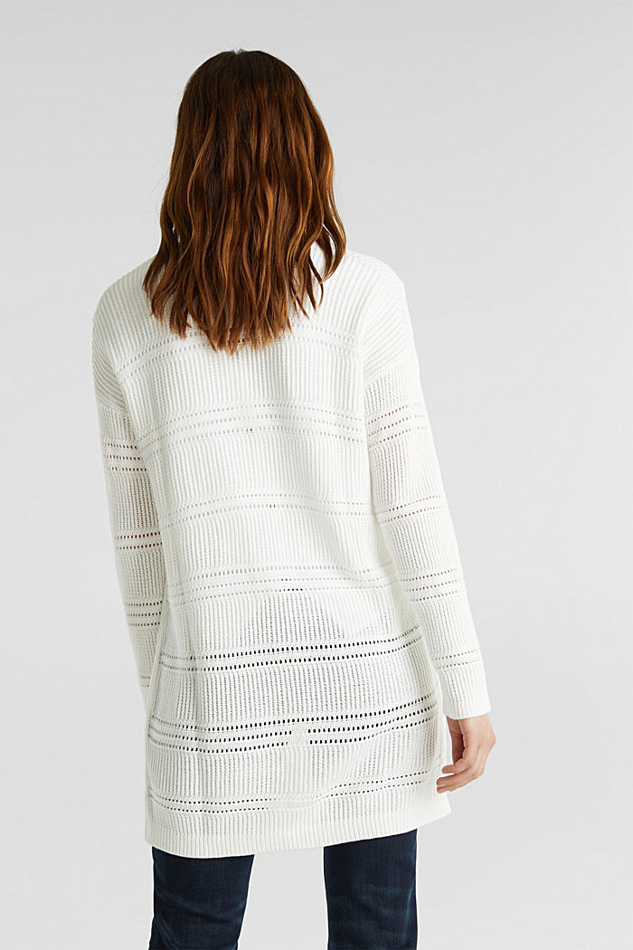 Häkel-Cardigan, 100% Organic Cotton, OFF WHITE, detail image number 2